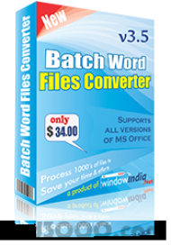 Batch Word File Converter screenshot